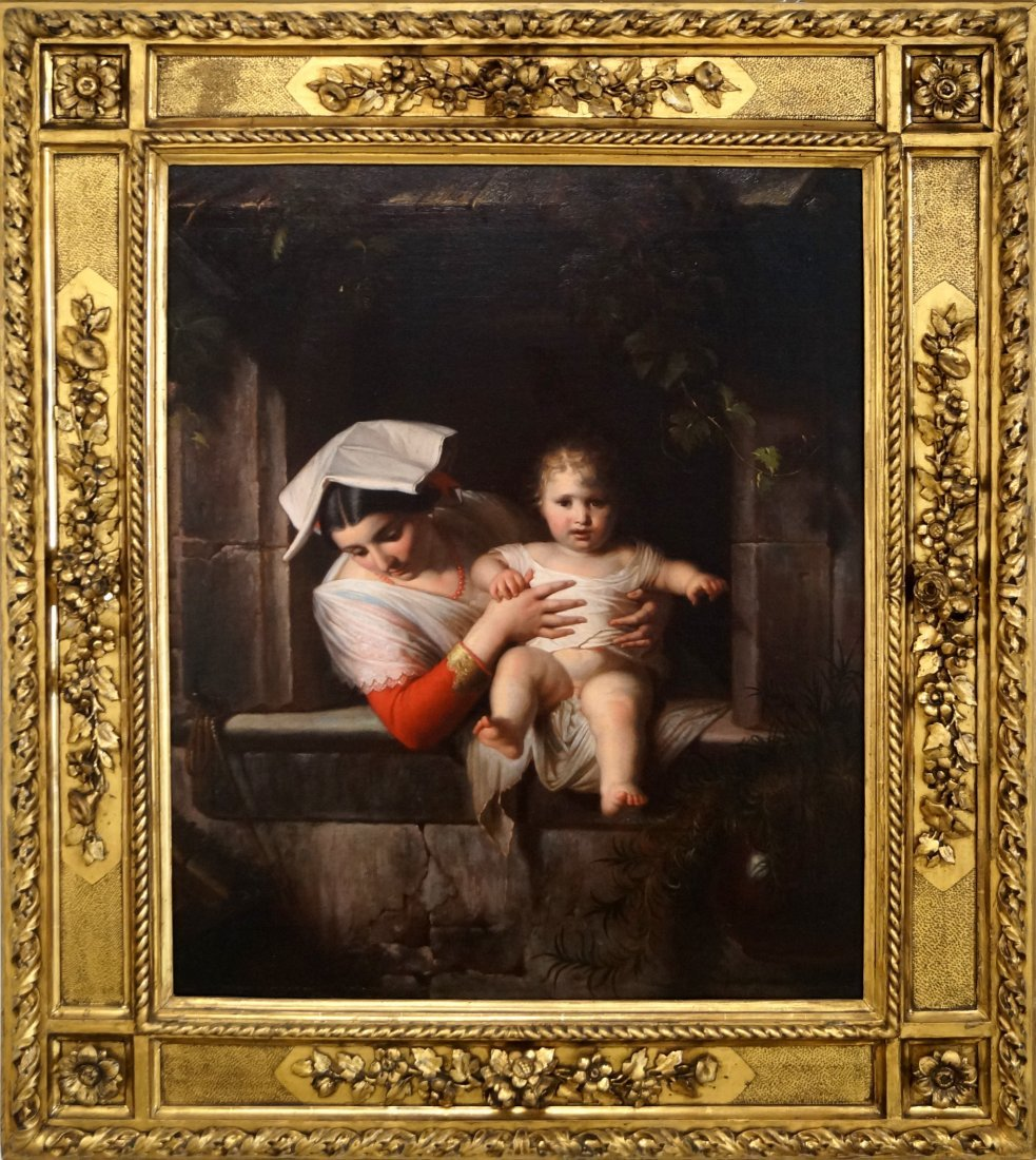 ITALIAN SCHOOL (19TH CENTURY), OIL ON CANVAS, MOTHER