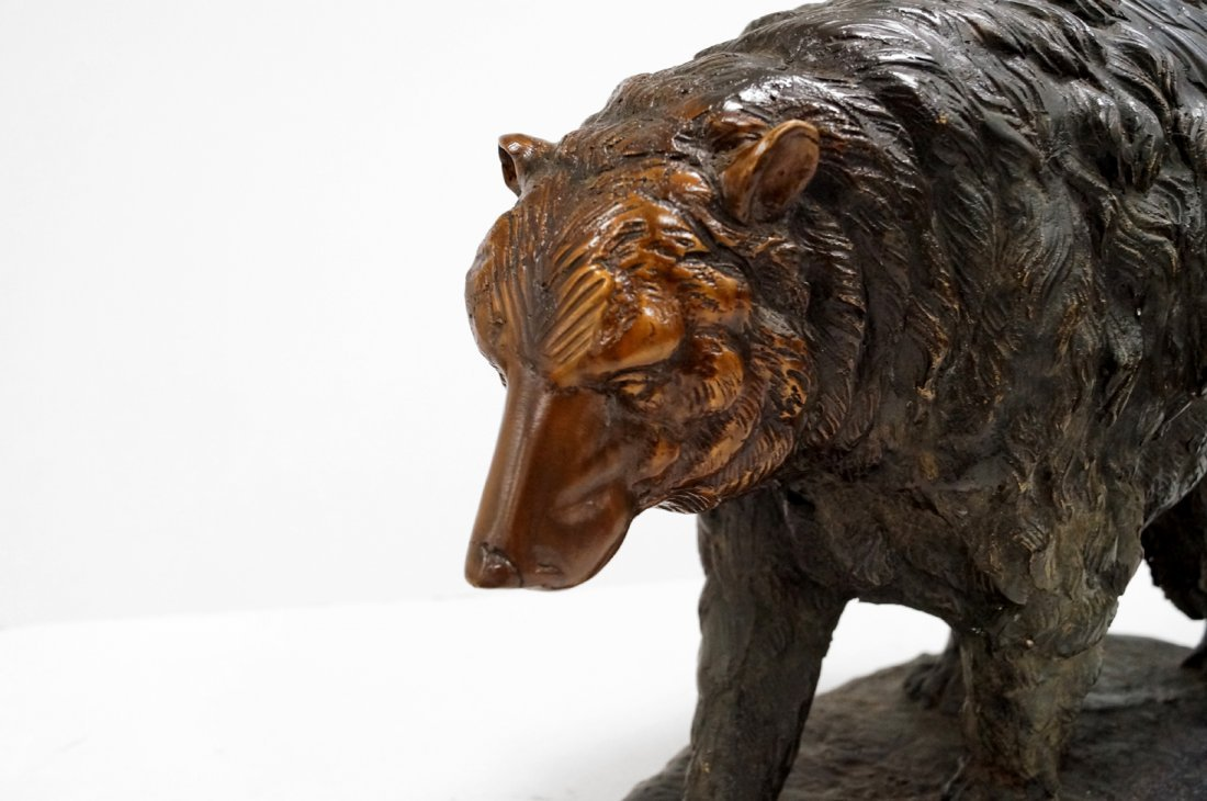 "BRONZE FIGURE OF A GRIZZLY BEAR. HEIGHT 12""; LENGTH 15"" - 2"