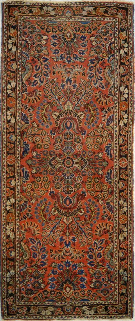 "ANTIQUE HAMADAN CORRIDOR RUG. 2'9"" X 6'7"""