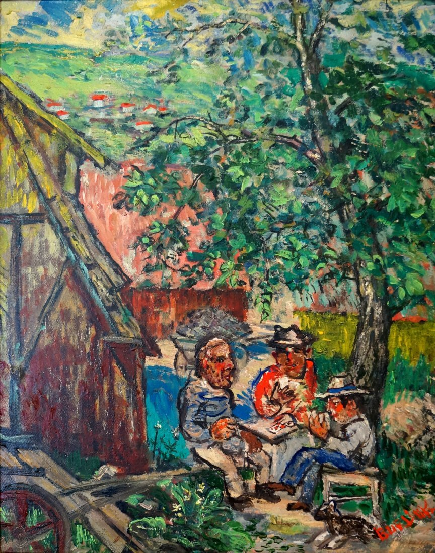 DAVID BURLIUK (RUSSIAN/AMERICAN 1882-1967), OIL ON