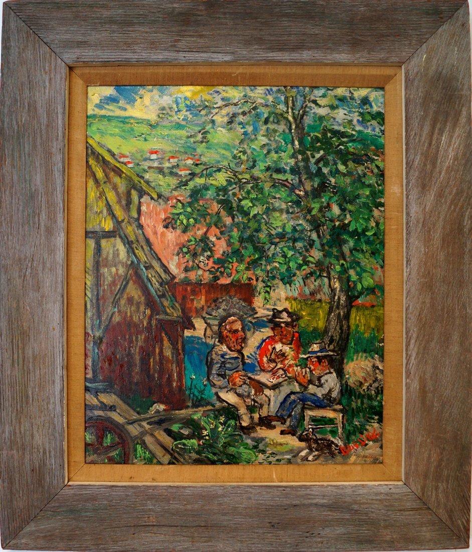 DAVID BURLIUK (RUSSIAN/AMERICAN 1882-1967), OIL ON - 2