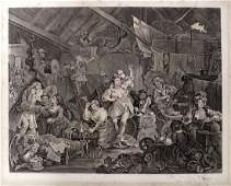 WILLIAM HOGARTH BRITISH 16971764 COPPER ENGRAVING