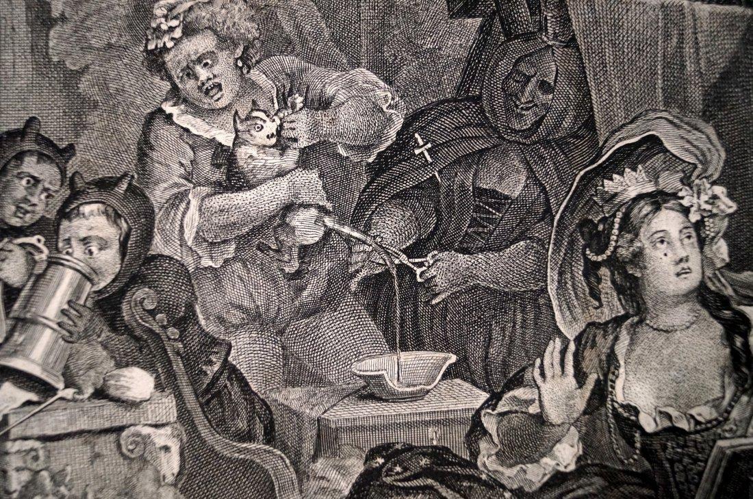 WILLIAM HOGARTH (BRITISH 1697-1764), COPPER ENGRAVING, - 3