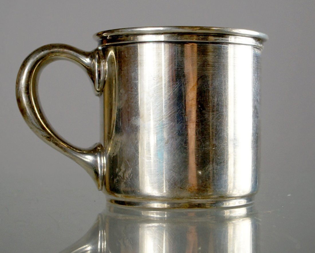 GORHAM STERLING GILT LINED BABY'S CUP, #7956. HEIGHT 2