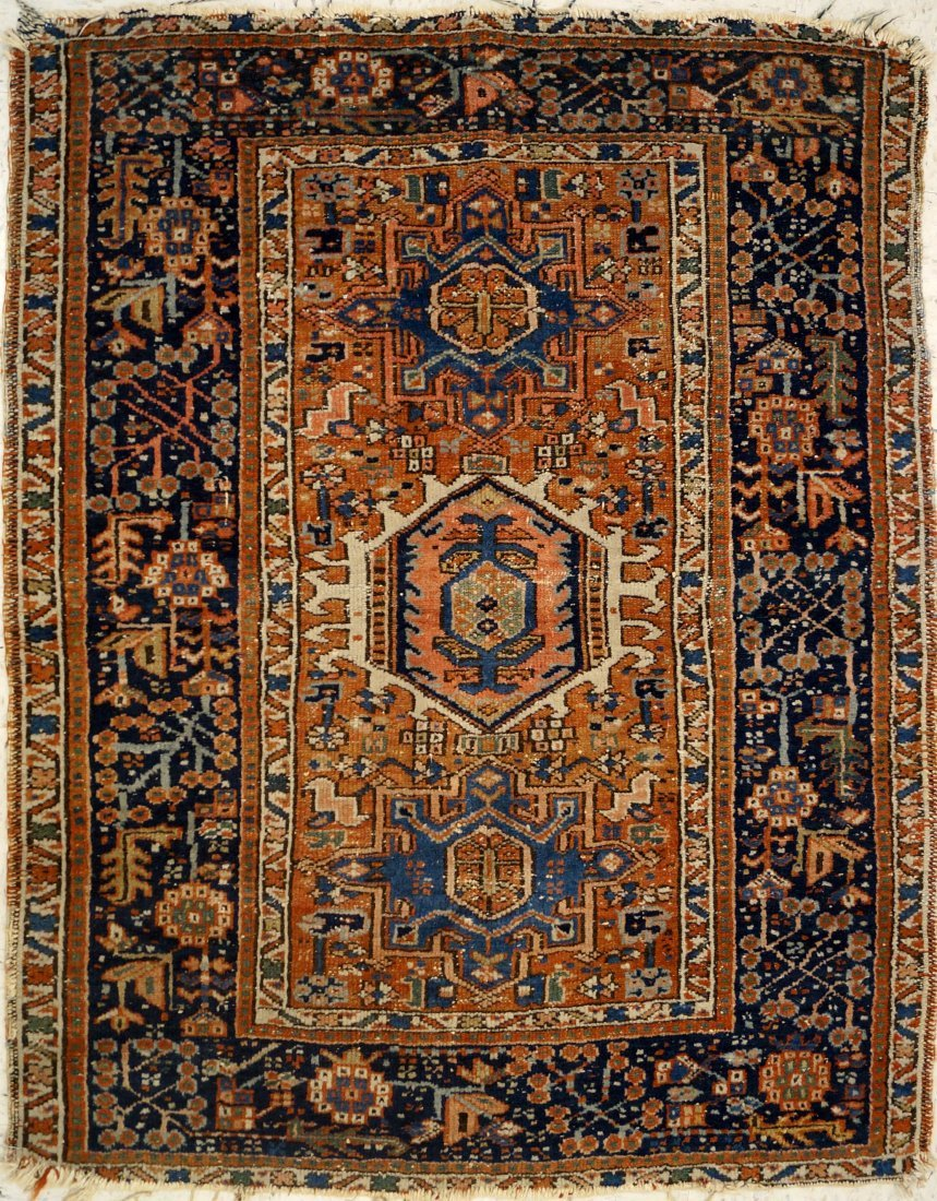 ANTIQUE AFGHAN RUG. 40 X 49""