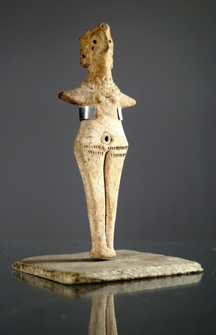 SYRO-HITTITE TERRA COTTA VOTIVE IDOL OF ASTARTE,