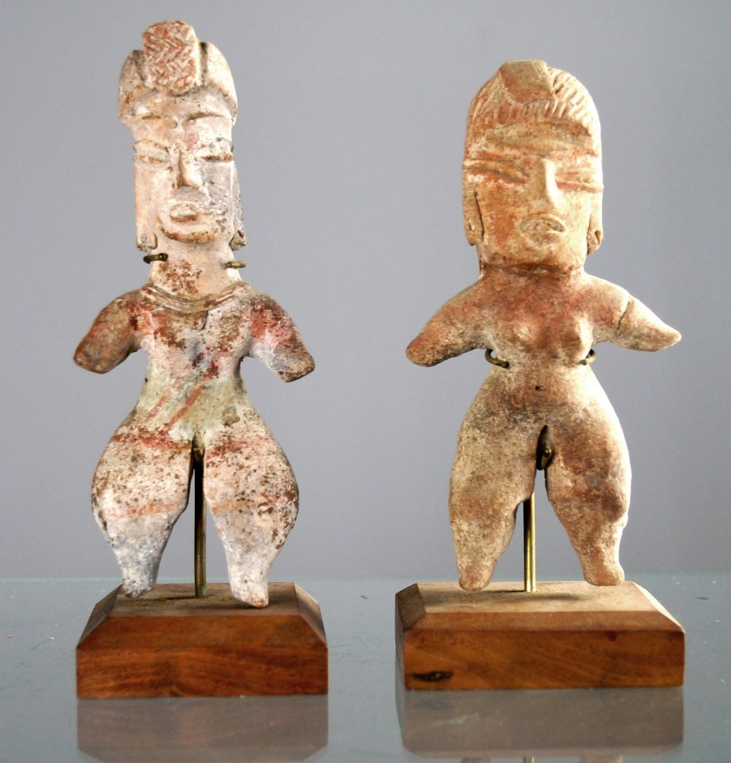 LOT (2) CENTRAL WEST COAST MEXICAN POTTERY FIGURES,