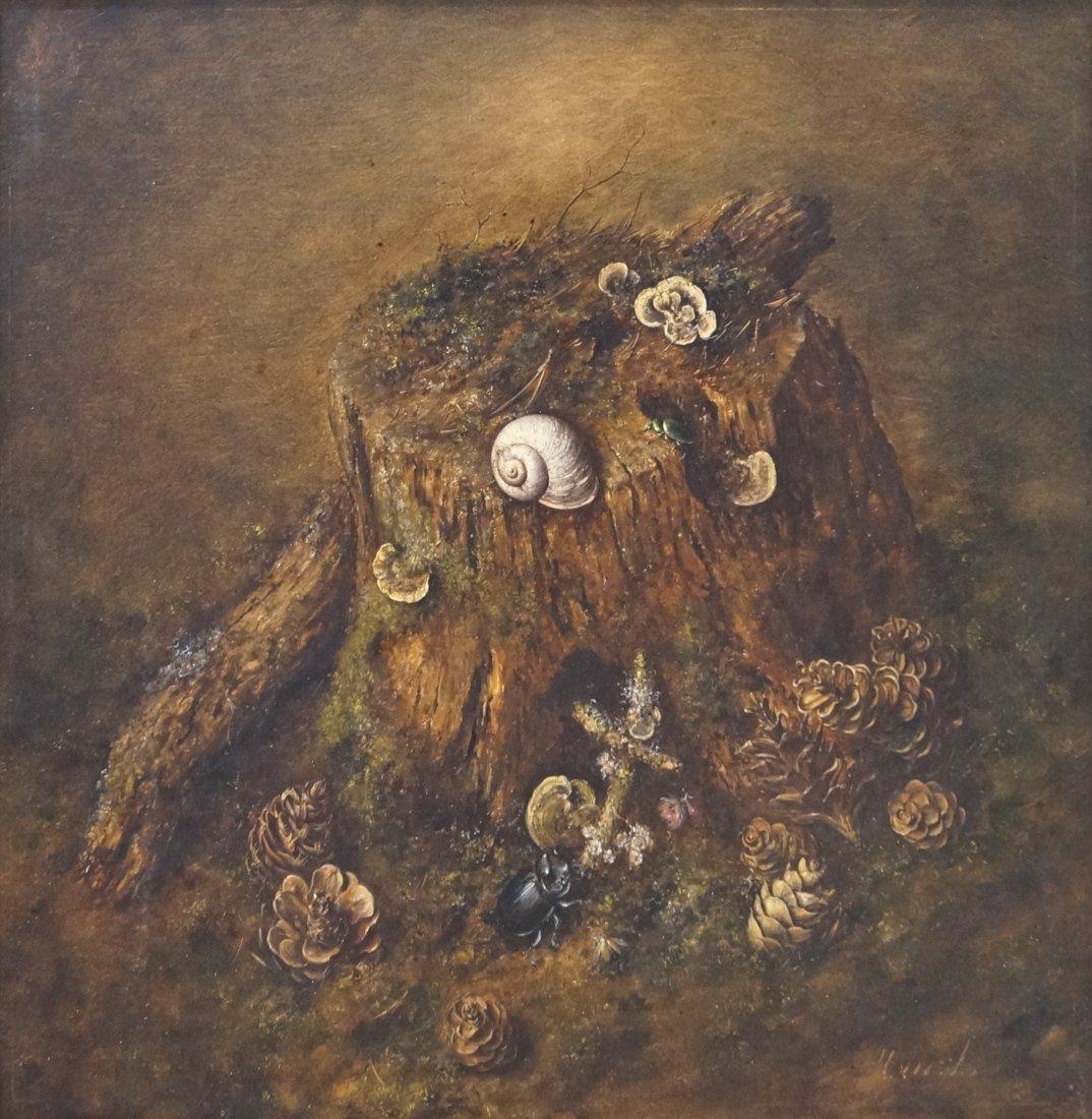 HENDRIK JAN HANS WIJK (DUTCH 1901-1990) OIL ON BOARD