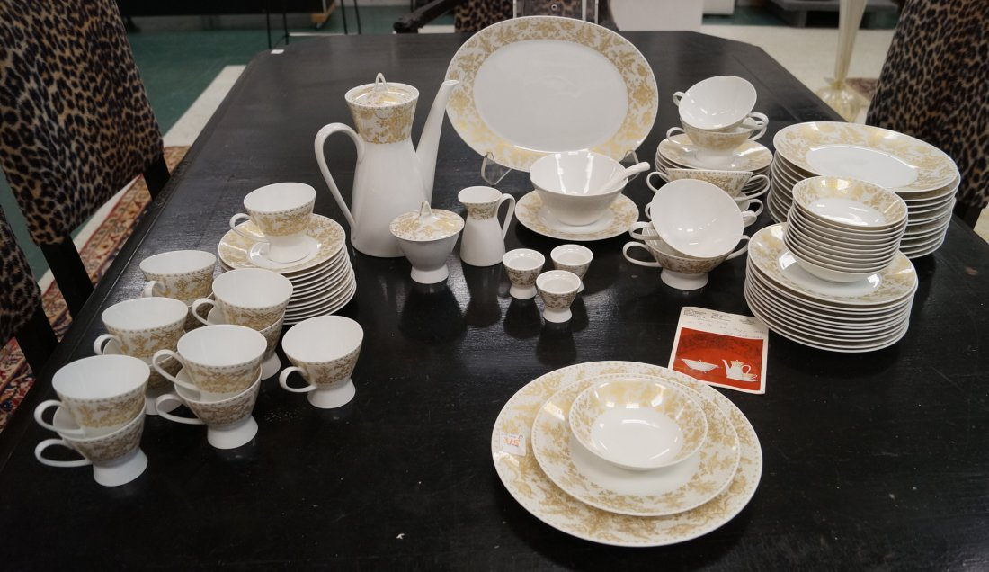ROSENTHAL STUDIO-LINE DECORATED PORCELAIN DINNER