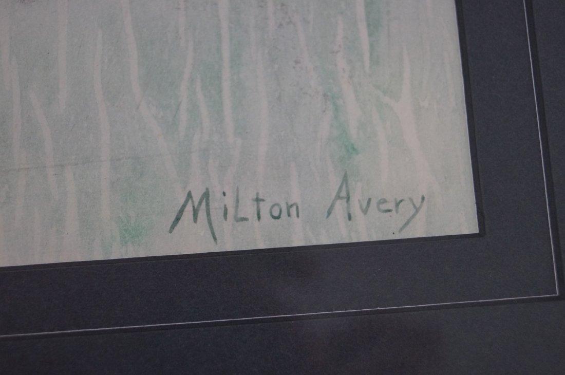 MILTON AVERY (AMERICAN 1885-1965), WATERCOLOR, - 2