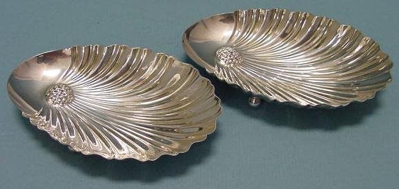 1: PAIR MANCHESTER STERLING CANDY DISHES