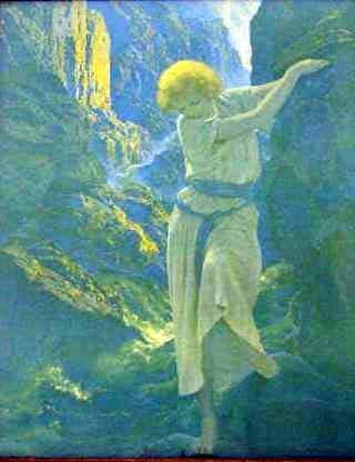 "17: MAXFIELD PARRISH PRINT ""THE CANYON"""