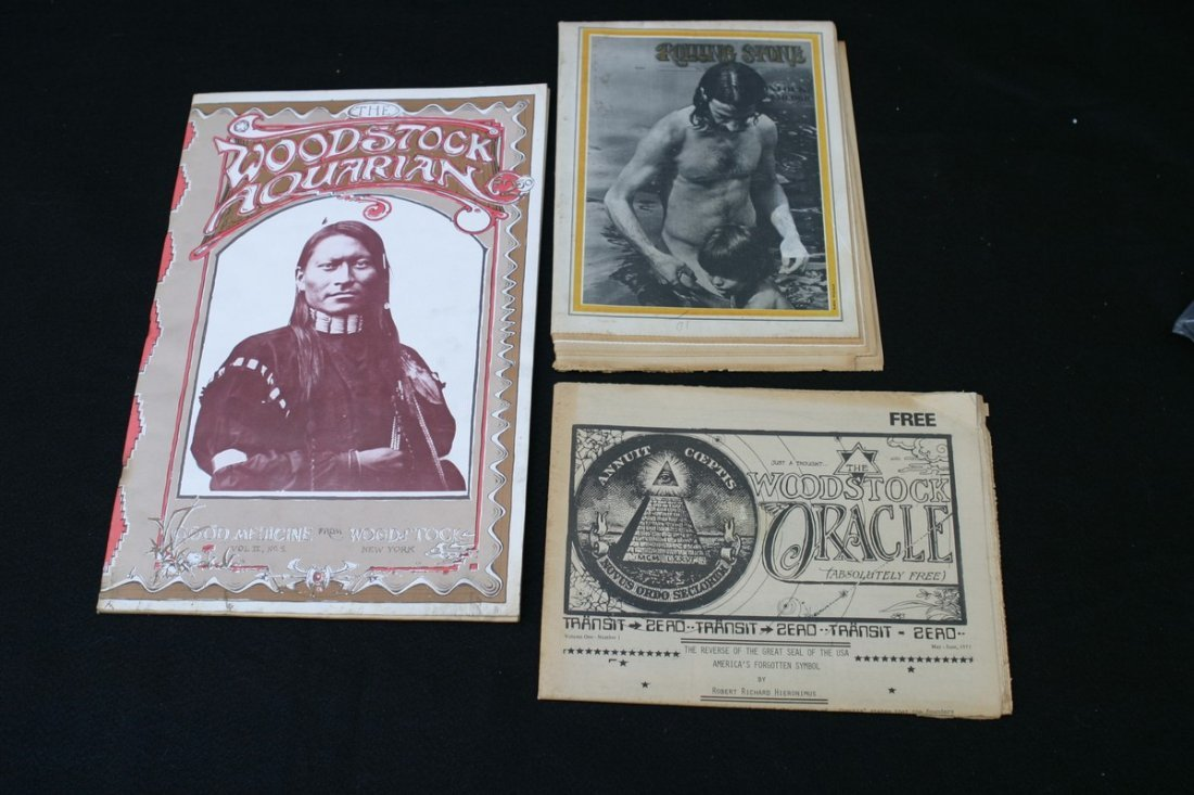 LOT (3) VINTAGE WOODSTOCK RELATED PUBLICATIONS