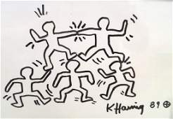 KEITH HARING (AMERICAN 1958-1990), MARKER ON WHITE