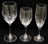 """SET CRYSTAL STEMWARE INCLUDING (18) RED, HEIGHT 8"""";"""