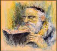 LOT (3) JUDAIC WORKS INCLUDING PASTEL AND PENCIL ON