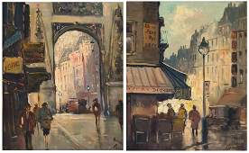 FRENCH SCHOOL 20TH CENTURY LOT 2 OIL ON CANVAS