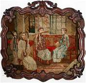 CONTINENTAL SCHOOL 19TH CENTURY PETTIPOINT PANEL