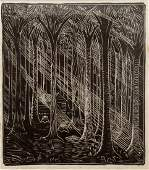 WHARTON ESHERICK (AMERICAN/PA 1887-1970), WOODBLOCK