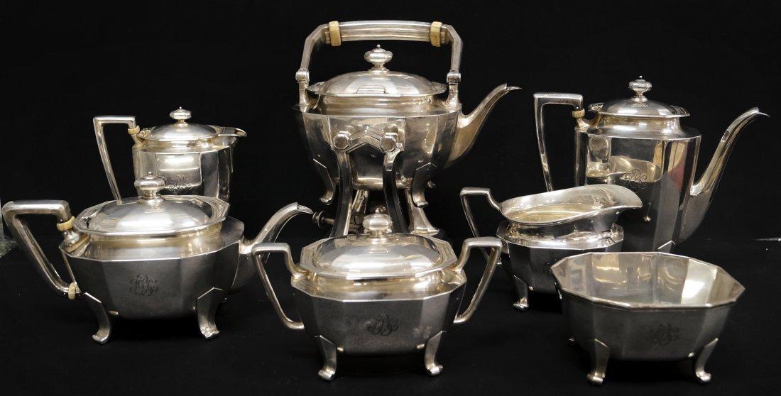 TIFFANY & CO. MAKERS STERLING 7-PIECE TEA/COFFEE SET,