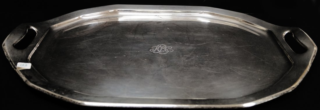 TIFFANY & CO. MAKERS STERLING TRAY, #17043 2696, MOORE