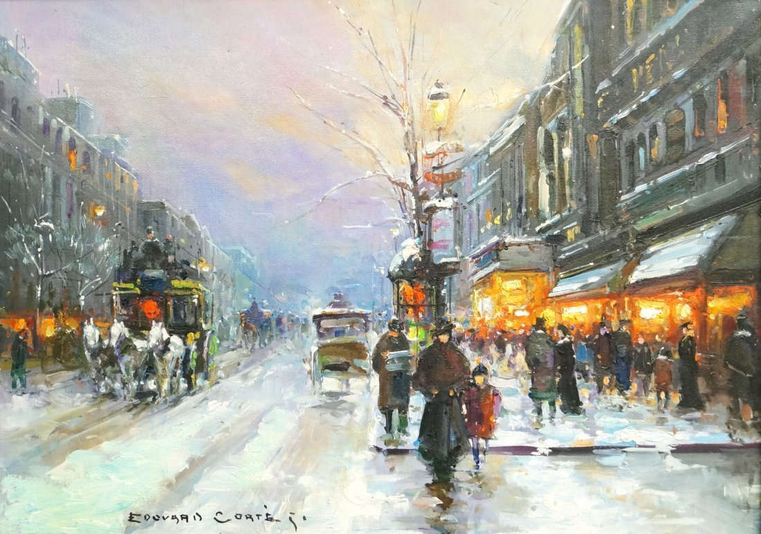 EDOUARD CORTES (FRENCH 1882-1969) OIL ON CANVAS,