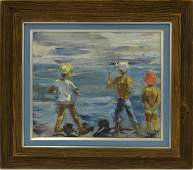 AMERICAN SCHOOL (20TH CENTURY), OIL ON CANVAS BOARD,
