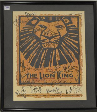 The Lion King Cast Signed Poster Jan 26 2020 Eb Autographs Collectibles In Ri