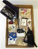 LOT ASSORTED COSTUME JEWELRY INCLUDING KJL, MONET,