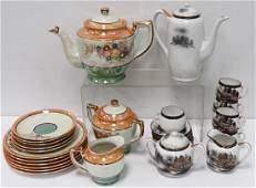(2) SETS JAPANESE PORCELAIN TEA SETS INCLUDING LUSTER