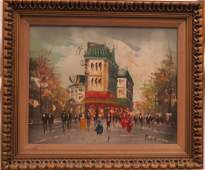 PUCCINI FRENCH SCHOOL MID20TH CENTURY OIL ON