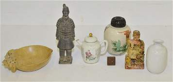 LOT 6 ASSORTED CHINESE INCLUDING DECORATED