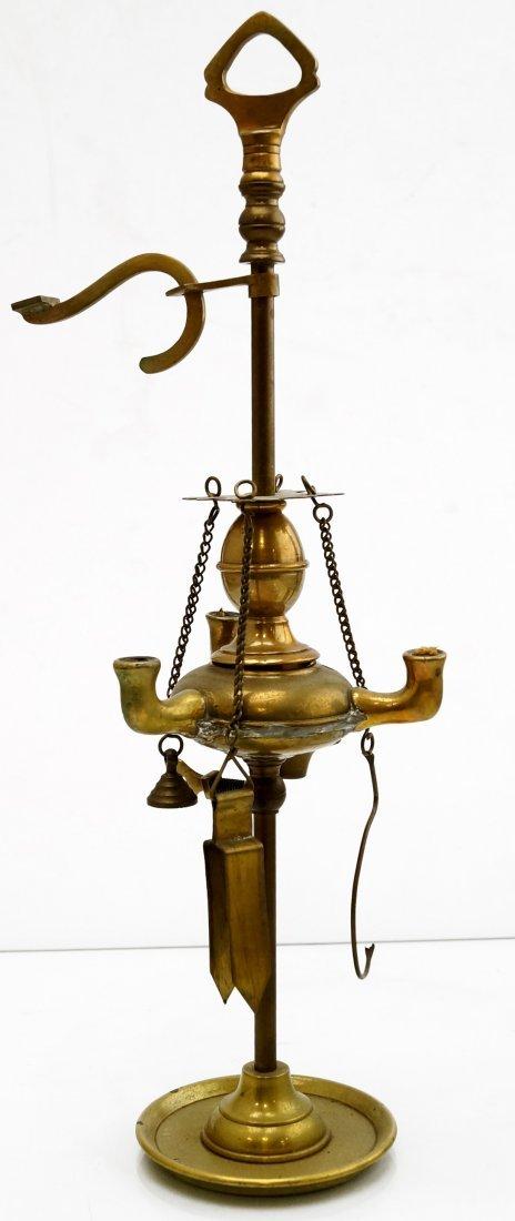 """MINIATURE VENETIAN BRASS FLUID LAMP. HEIGHT 12"""""""