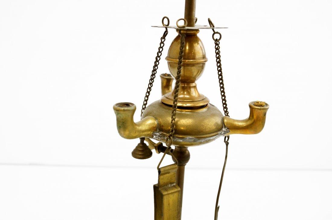"""MINIATURE VENETIAN BRASS FLUID LAMP. HEIGHT 12"""" - 2"""