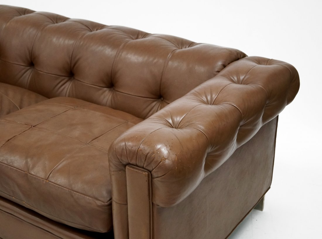 LEATHER CHESTERFIELD SOFA, ATTRIBUTED TO LEON ROSEN - 2