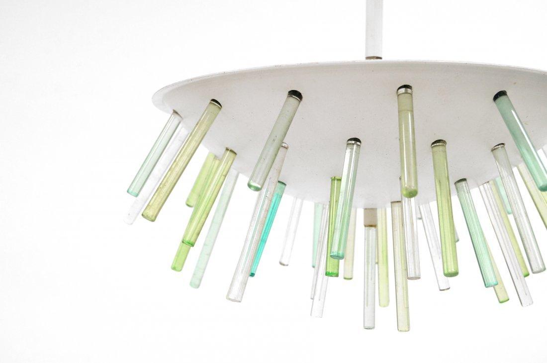 MID-CENTURY SPUDNIK STYLE LIGHT FIXTURE WITH GLASS - 3