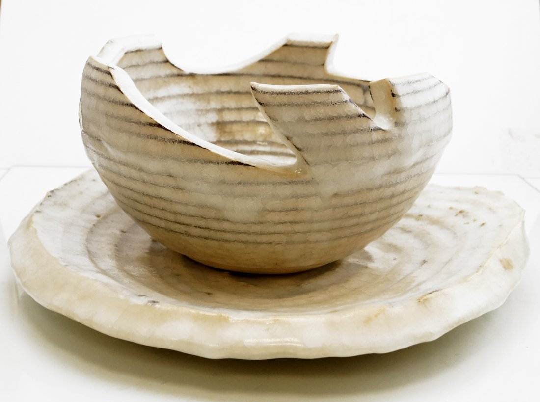 LOT (2) MID-CENTURY MODERN ART POTTERY INCLUDING