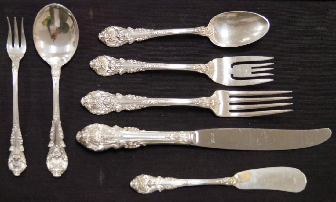 """WALLACE """"SIR CHRISTOPHER"""" STERLING FLATWARE SERVICE FOR"""