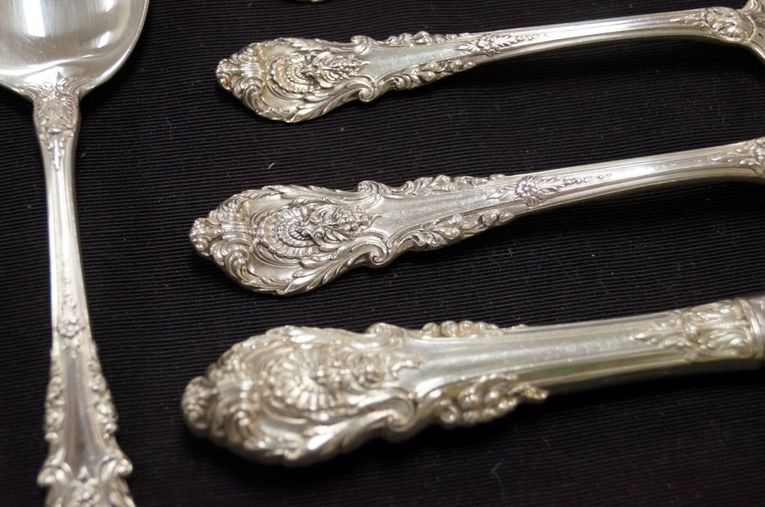 "WALLACE ""SIR CHRISTOPHER"" STERLING FLATWARE SERVICE FOR - 2"