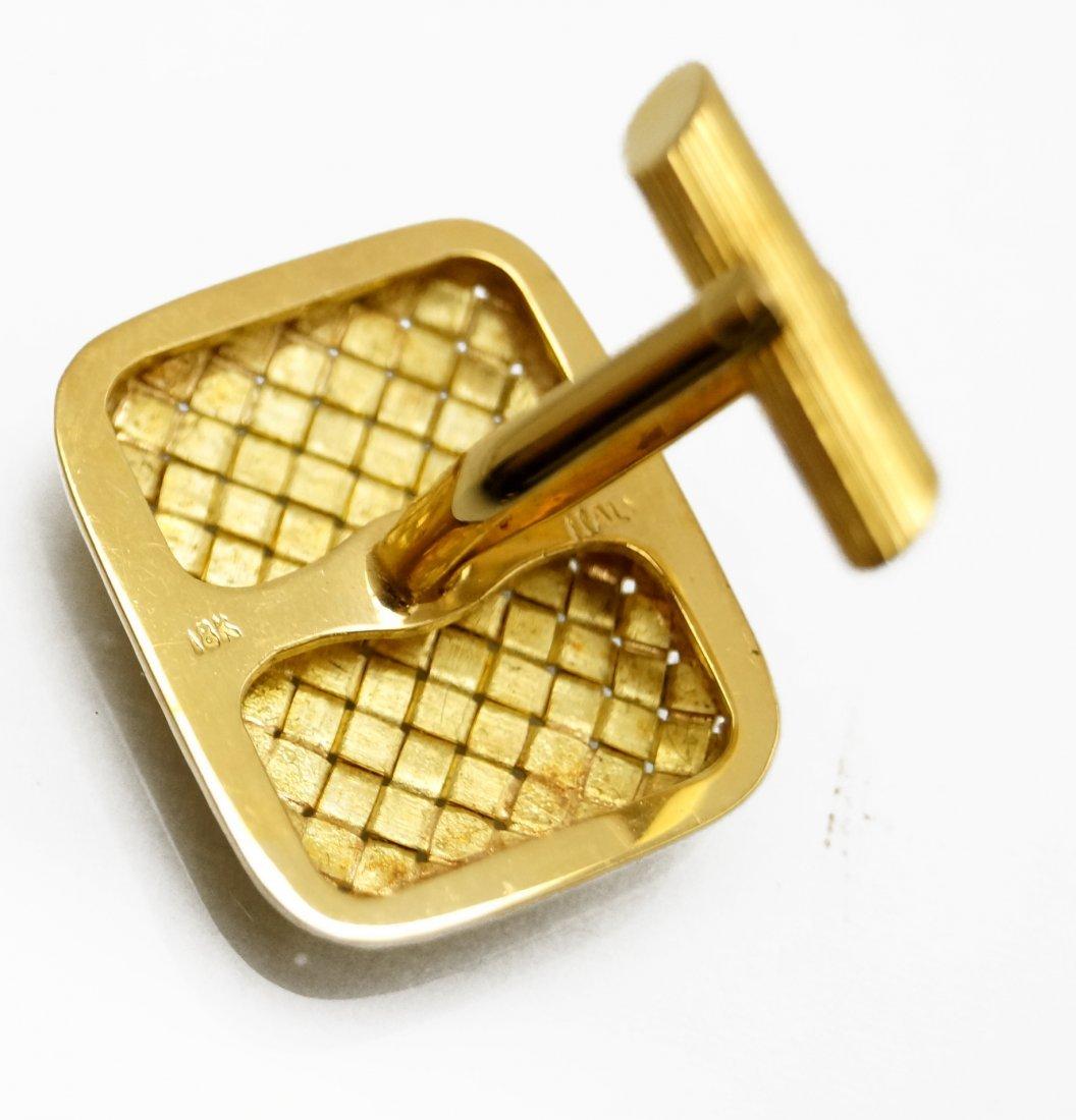 PAIR 18K YELLOW GOLD GENTLEMAN'S CUFFLINKS. 1 3/4 X 1 - 2