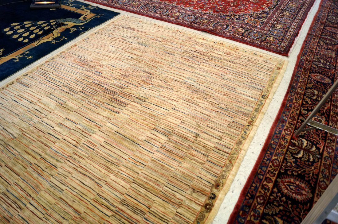 "HAND WOVEN KHYBER RUG. 6'4"" X 9'7"" - 2"