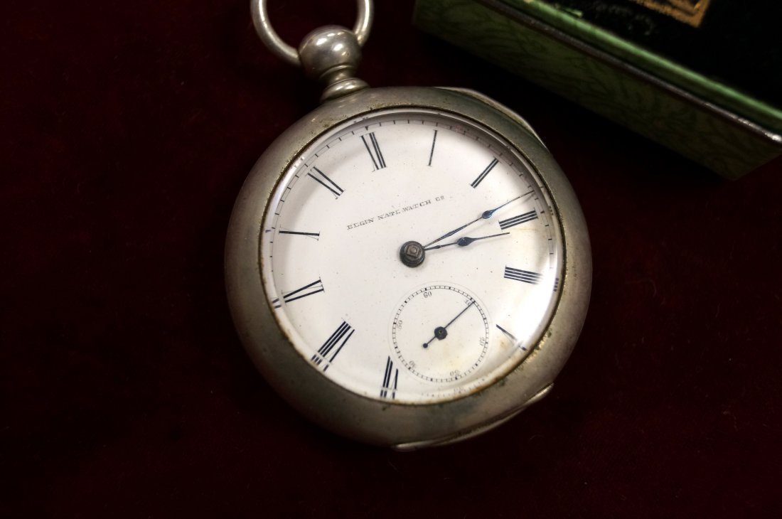 LOT (2) INCLUDING ELGIN OPEN FACE POCKET WATCH AND - 2