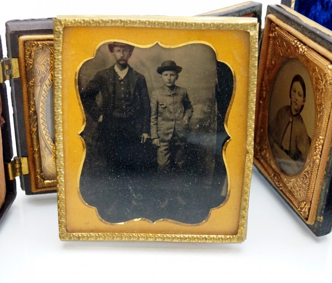 LOT (8) ASSORTED TINTYPES AND CASES INCLUDING GUTTA - 4