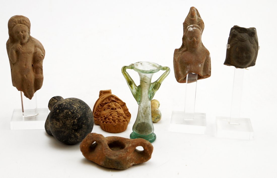LOT ASSORTED ANTIQUITIES INCLUDING ROMAN, MIDDLE AND