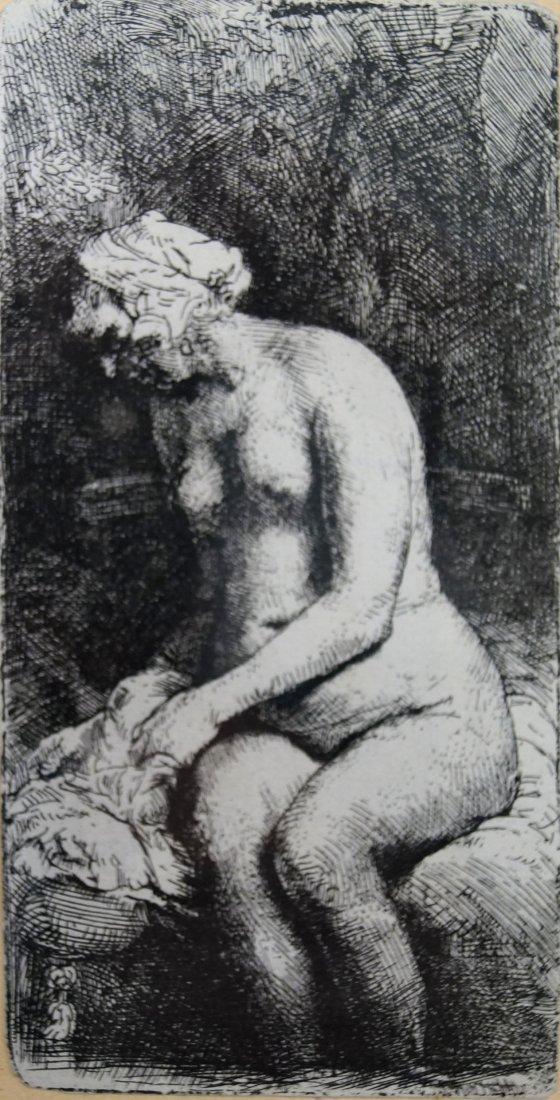 AFTER REMBRANDT VAN RIJN (DUTCH 1606-1669) ETCHING,