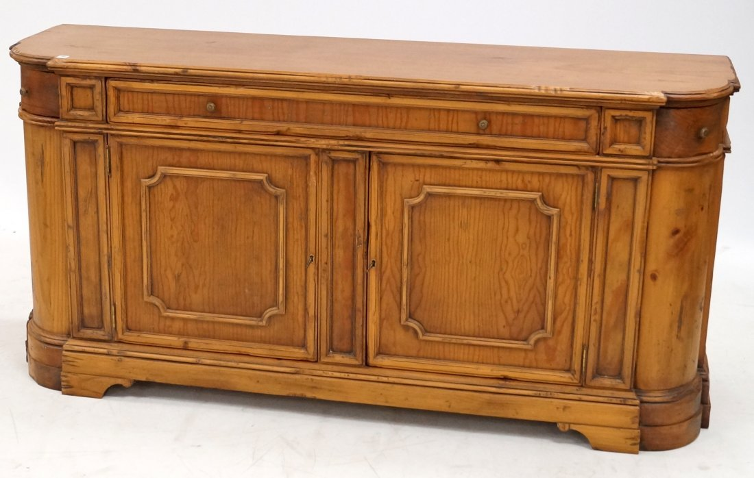 """CONTINENTAL CARVED PINE SIDEBOARD/SERVER. HEIGHT 35"""";"""