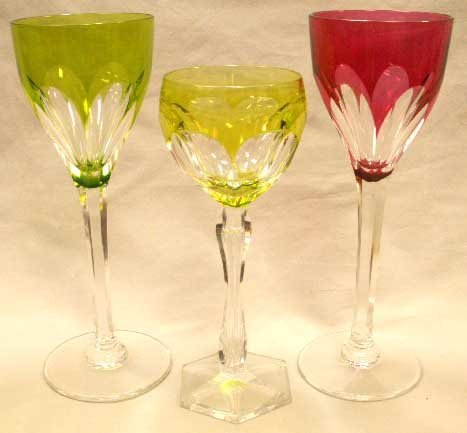 6: LOT (3) INCLUDING (2) ST. LOUIS CRYSTAL GLASSES