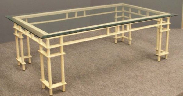 7: DESIGNER IRON BASE COFFEE TABLE