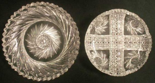 21: LOT (2) AMERICAN BRILLIANT CUT GLASS DISHES