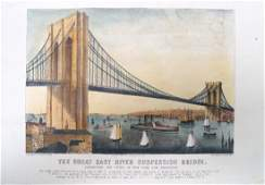 CURRIER  IVES LITHOGRAPH THE GREAT EAST RIVER